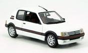 Peugeot 205 miniature GTI 1.9 Blanc Meije 1990