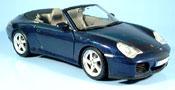 Porsche 996 Cabriolet  4S bleu 2003 Maisto