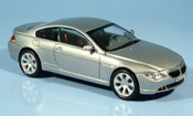 Bmw 635 miniature E63 d Coupe grise metallisee 2003