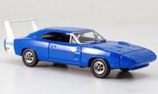 Miniature Dodge Charger 1969  Charger Daytona bleu avec blancheem Heckspoiler