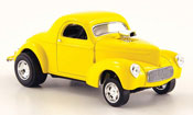 Miniature Hot Rod Willys Coupe 1941 Hot Rod jaune