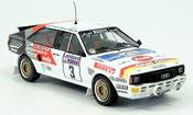 Miniature Audi Quattro   No.3 Mikkola Hertz RAC Rally 1984