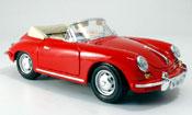Porsche 356 1961  B cabriolet rosso Burago