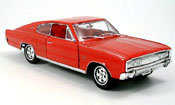 Miniature Muscle car Dodge Charger 1966 rouge