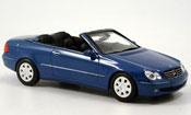 Mercedes CLK miniature Cabriolet  bleu 2003