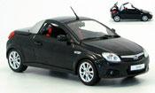 Opel Tigra miniature twin top  noire funktionsfahiges verd 2004
