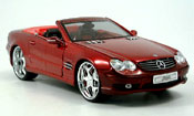 Mercedes SL  miniature 55 amg cabrio rouge tuningcar playerz
