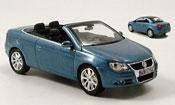 Volkswagen Eos   cabrio  bleu avec hardtop Norev