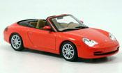 Porsche 996 Cabriolet  rosso 2001 Minichamps