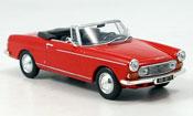 Peugeot 404 miniature Cabriolet rouge 1962