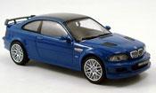 Bmw M3 miniature E46 GTR street bleu