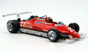 Ferrari 126 miniature 1982 C2 no.27 g.villeneuve long beach avec pilot