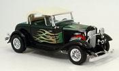 Ford Hot Rod miniature roadster street rod verte/noire avec flammen 1932