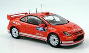 Peugeot 307 miniature WRC no.7 gronholm sieger rallye finnland 2005