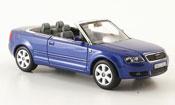 Miniature Audi A4 cabriolet  bleu 2006