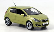 Opel Corsa miniature verte 5 turer 2006