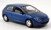 Peugeot 307 Solido 3 portes bleu