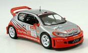 Peugeot 206 WRC  no.1 bernardi fortin rallye cevennes 2005 IXO