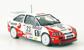 Miniature Rallye Ford Escort Cosworth RS No.23 Rally Portugal 1994