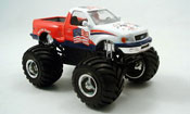 Ford F 150 miniature Monster Truck blanche rouge 1997