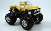 Ford F100 miniature Monster Truck jaune noire 1953
