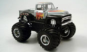 Ford F100 miniature Monster Truck grise metallisee noire 1953