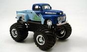 Ford F100 miniature Monster Truck bleu 1948