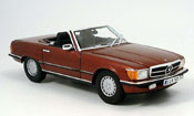 Miniature Mercedes 350 SL  (r 107) rouge