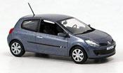 Renault Clio   iii bleugrise 3 turer Norev 1/43
