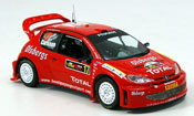 Peugeot 206 WRC miniature no.17 carlsson andersson rallye zypern 2005