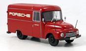 Opel Blitz   175 renntransporter porsche rouge Premium Cls 1/43
