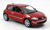 Renault Megane miniature coupe rouge 2006