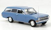 Opel Rekord   a caravan bleu 1962 Minichamps