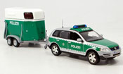Volkswagen Touareg   avec pferdeanhanger police 2002 Minichamps