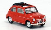 Fiat 600   D offenrouge 1960 Brumm