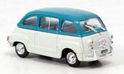 Fiat 600   Multipla grau turkis 1960 Brumm