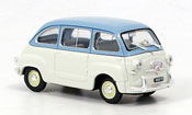 Fiat 600   Multipla blau grau 1956 Brumm