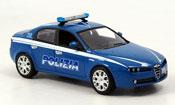 Alfa Romeo 159   police police italien 2005 Norev