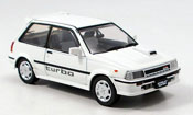 Toyota Starlet miniature turbo s blanche 1986