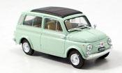 Fiat 500   Giardiniera green 1960 Brumm