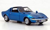 Opel GT Aero miniature bleu 1969