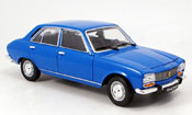 Peugeot 504 Berline  bleu 1975 Welly 1/18