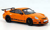 Porsche 997 GT3 RS  orange neroe Autoart