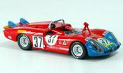 Miniature Alfa Romeo 33.3 1970  no.37 hezemans gregory 24h le mans