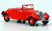 Citroen Traction Roadster light fifteen rosso 1938