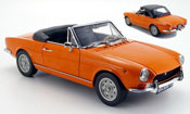 Fiat 124 BS orange geoffnetes verdeck 1969