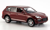 Porsche Cayenne Turbo miniature rouge 2007
