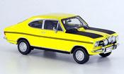 Opel Kadett B  coupe jaune noire Schuco