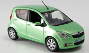 Opel Agila miniature verte