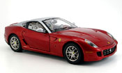 Ferrari 599 GTB  rouge et grise elite edition Hot Wheels Elite
